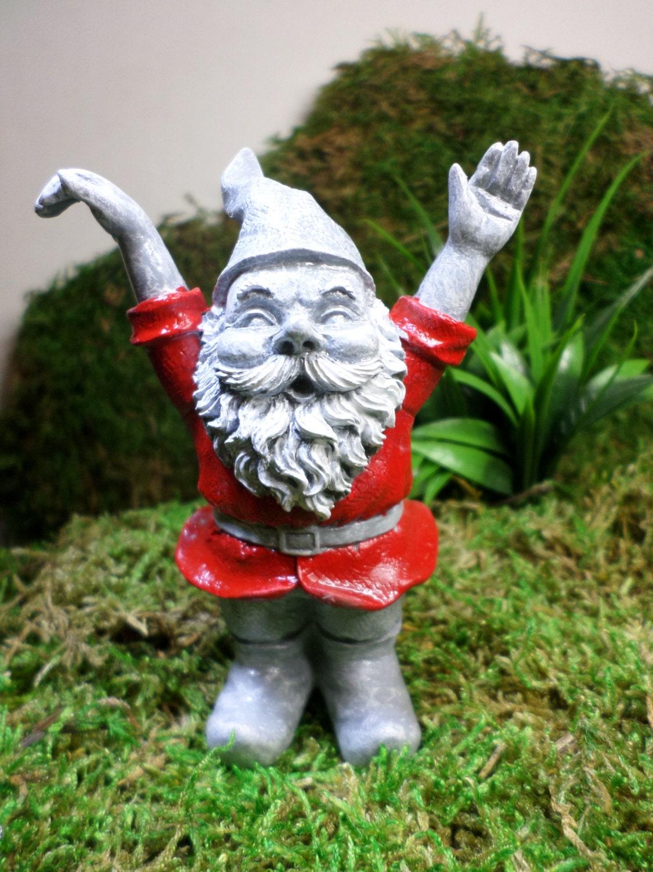 Gnome In Garden: Custom Garden Gnomes Miniature Gnomes Miniature By WaWasGarden