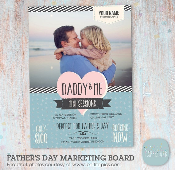 Father's Day Mini Session Template Photoshop IF002