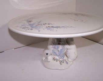 Vintage Pfaltzgraff Winter Frost Cake Stand