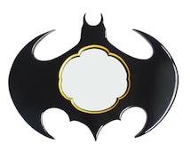 Batman Mirror, Decorative Wall Mirror medium size in classic Yellow Black Glossy