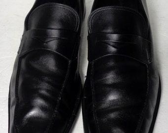 SALVATORE FERRAGAMO Black Loafer Men's Shoes Size 12