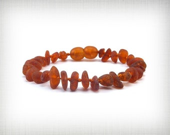 Natural Baltic Amber Baby Teething Bracelet Unpolished Beads