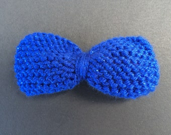 Royal Blue Sparkly Mini Hair Bow