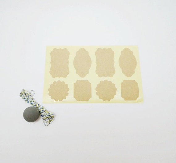 Wedding Favor Tags Bulk : Bulk 160 Kraft Labels, Envelope Labels, Favor Stickers, Gift Labels ...
