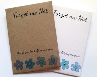 Handmade Forget me Not Seeds Teacher Gift End Term Thank you