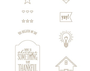 Stampin Up You Brighten My Day Cling-Mount Stamp Brand New