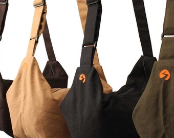 Slouch Bag | Canvas Bag, Crossbody Bag, Shoulder Bag, Travel Bag, Shopping Bag, Day Bag, Diaper Bag - HEAVY DUTY CANVAS - 1 Year Warranty