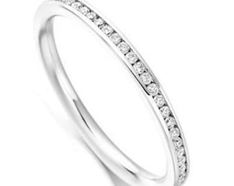 2mm Channel Set Eternity Ring in Gold