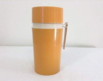 Vintage Mustard Colored Pint Size Thermos