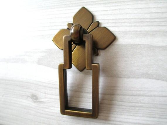 Square Drop Dresser Drawer Pulls Knobs Handles Ring Antique