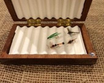 Handmade Mahogany Fly box!