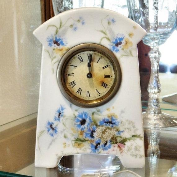 Narco porcelain clock white vintage