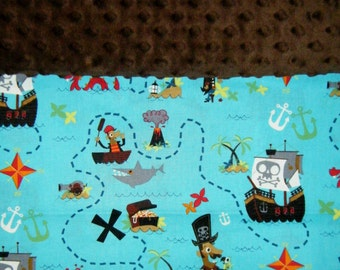 Nap Mat Cover / Toddler Sleeping Cot Cover - Pirates - Different Cover Options to Choose From - Last One Available