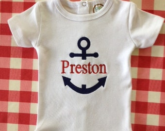 Personalized Anchor onesie or shirt
