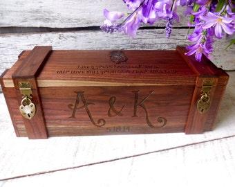 Wine Box, Wedding Wine Box, Valentines Gift, Custom Wine Box, Engraved Wine Box, Wine Box, Love Letter Wedding Ceremony, Wine Boxes