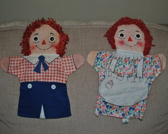 Raggedy Ann and Andy Puppets
