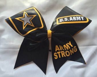 Army Strong Cheer Bow - #230329026