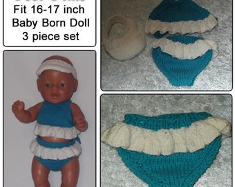 POOL PARTY To fit Baby Born and 16 or 17 inch similar size dolls
