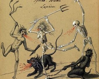 """Occult Art : """"Compendium Rarissimum, Folio 9"""" (c. 1775) - Giclee Fine Art Print"""