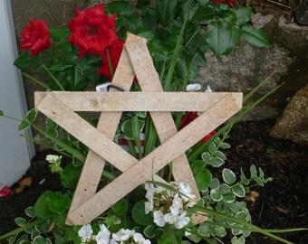Reclaimed wood lath star