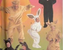 McCall's ANIMAL Costume Pattern 8953 KANGAROO Lion Bunny Cat Bear Child Sizes 6 7 8