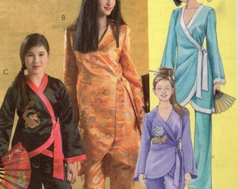 McCall's ASIAN Costumes Pattern 5208 Girls 7 - 14