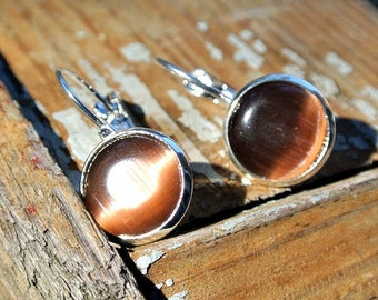 Earrings cabochon glass 12mm
