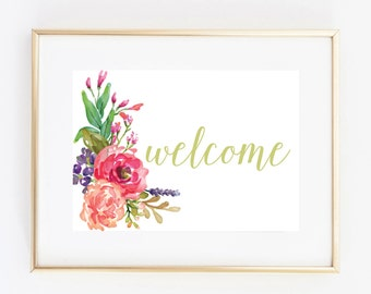 welcome 5x7 art printable instant download