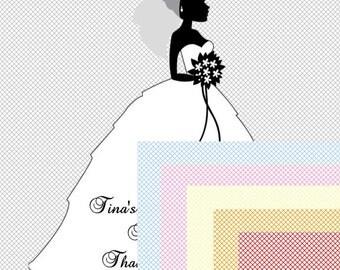 60 Bride Favor Tags