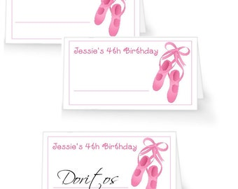12 Ballet Table Tent Place Cards