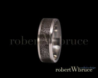 Meteorite & Titanium Ring Groom's Wedding Band - Exclusive rWb Custom Design