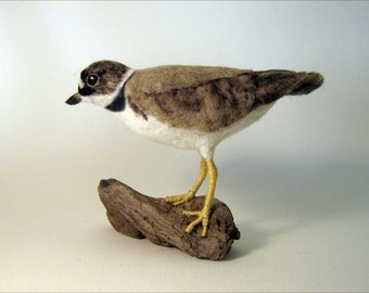 Semi Palmated Plover  Needle Felted Bird - Made to order