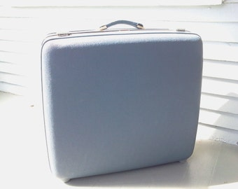 Vintage, Luggage, Suitcase, Tourister, Light Blue, Hard Case