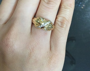 Tiffany Gold and Diamond Ring