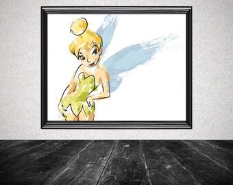 Tinkerbell Splatter Print