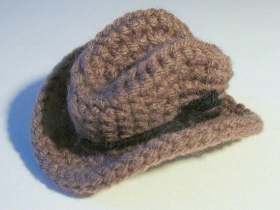 Crochet Mini Cowboy Hat Pattern : Mini Cowboy Hat - PDF Crochet Pattern INSTANT DOWNLOAD ...