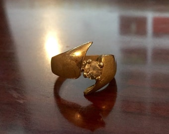 30% DISCOUNT SALE Vintage Antique 14k Gold Plated Ring (#0)