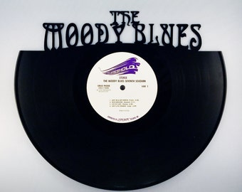 Recycled Vinyl Record THE MOODY BLUES Wall Art