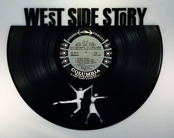 Recycled Vinyl Record WEST SIDE STORY Wall Art