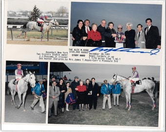 "Horse Racing Hall of Fame Jockey Angel Cordero Signed Autographed 8x10 photo Collage ""Best Offers"""