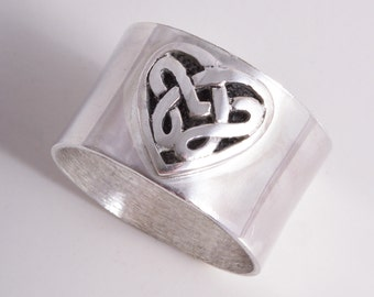 Celtic ring sterling silver Celtic heart ring handmade choose your size custom made to order 925
