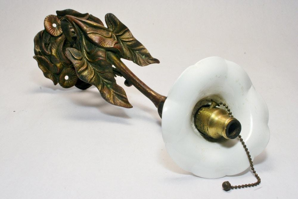 Art Nouveau Lily Sconce