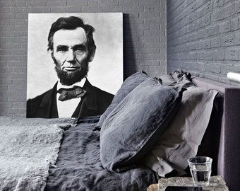 "18"" x 22"" Abraham Lincoln Print - Large, Vintage Art"