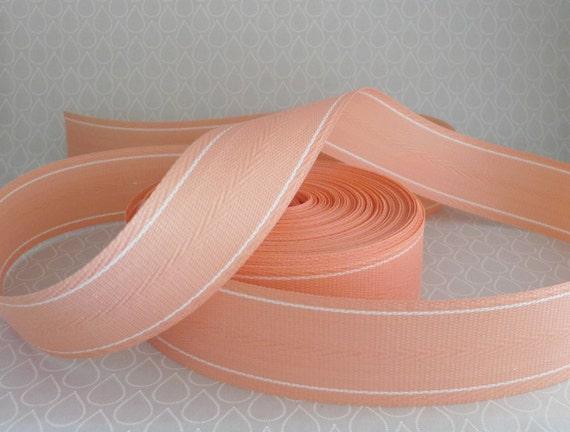 Lawn chair webbing salmon peach pink heavy gauge woven for Lawn chair webbing