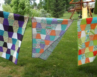 Bright and cheery baby quilts