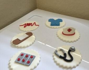 Nurse cupcake topper