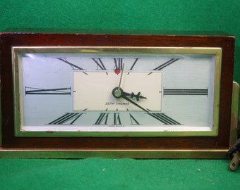 Vintage Mid Century Art Deco modern Seth Thomas Electric Clock