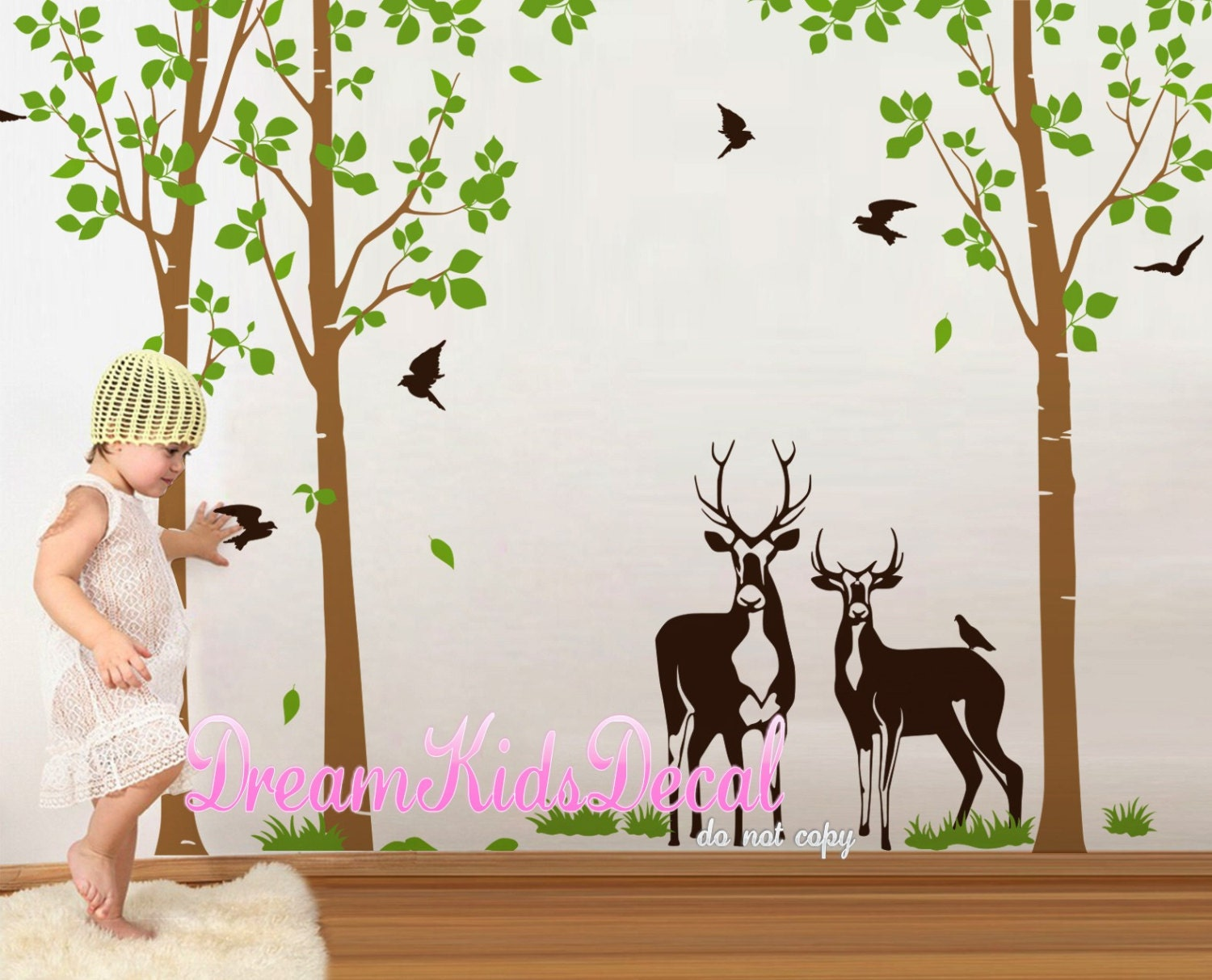 Nature Wall Decor Stickers : Wall decals tree decal nature vinyl by