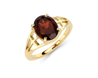 14K Gold Oval Garnet Ring, Garnet Ring, Gold Ring, Fancy Ring, Fancy Jewelry, Garnet Jewelry, Gold Jewelry, Garnet