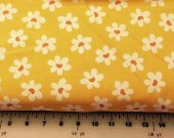 SALE Yellow Daisy Fabric  sold by the yard 100% cotton fabric BRAND NEW on bolt